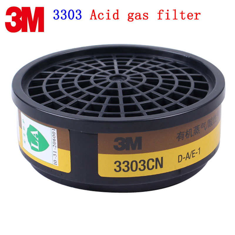 3M 3303CN gas mask filter Genuine security 3M filter against Acid gas Chlorine gas Sulfur dioxide 3000 series mask filter 3m 2096cn p100 respirator mask filter genuine security 3m filter cotton against acid gas dust particulates welding dust filter