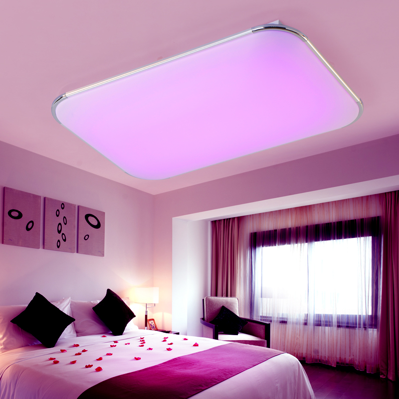 Acrylic Modern LED Ceiling Lights Multi color Remote Group Control ...