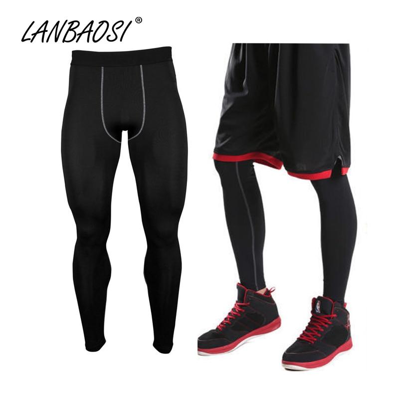 Buena calidad de los hombres Medias de compresión Pantalones Ropa interior Capa base Secado rápido Leggings transpirables Pantalones Pantalones