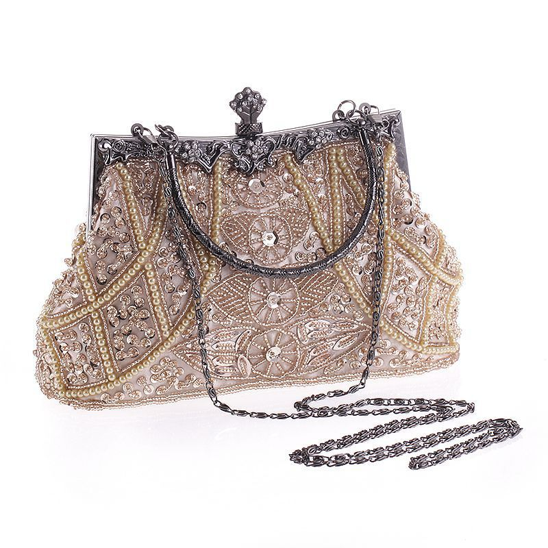 2018 Elegant Evening Clutch with Sparkling Sequin for Ladies, Bling Handbags with Detachable Chain sequin detail chain bag