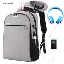 0ba3293261 WANGKA USB De Charge sac à dos pour ordinateur portable 15.6 pouces Anti  Vol Femmes Hommes sacs d'écolier Pour Adolescents Fille.