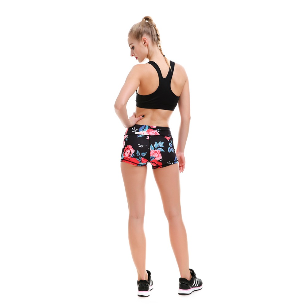 28dae2b1fdd New Womens Yoga Floral Shorts S To 4xL Plus Size Black Rose Print Yoga Gym  Dance Sport Black BLue Shorts 3 Patterns-in Yoga Shorts from Sports ...