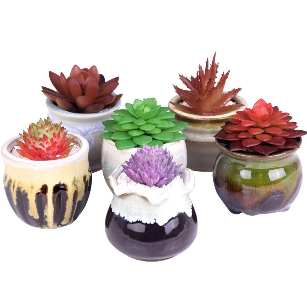 Wituse mini ceramic flower pots flowing glazed vase for 6 ceramic flower pots