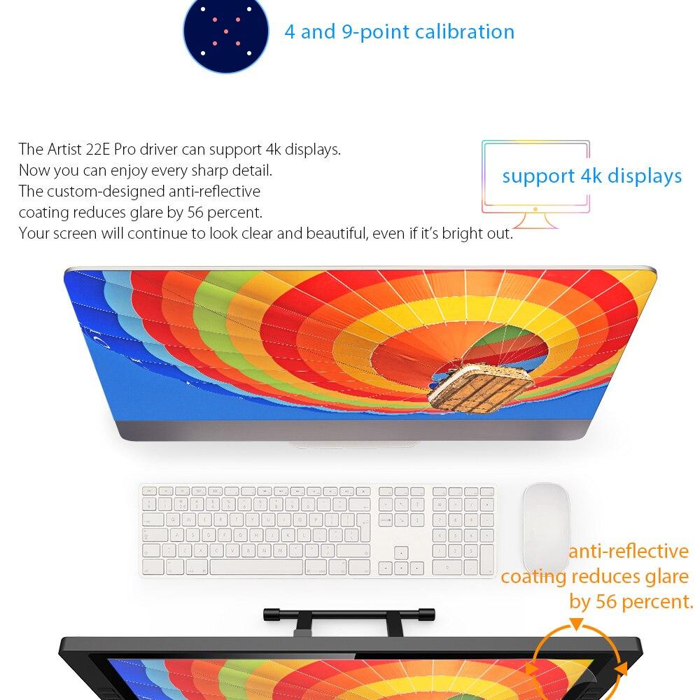 XP-Pen Artist22 EPro tableta gráfica tableta grafica para dibujar Monitor Digital con teclas de acceso directo y soporte ajustable 8192 - 4