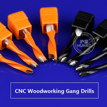 1pc 10mm SHK CNC turn right boring hole bits A series Gang drills for wood Carbide