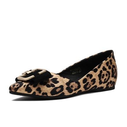 Nouvelle Luxe Rouge Leopard Marque Pour Net Printemps Simples De Carrée Peu Femmes black Femme Leop Bouche Augmenté Boucle Pointu Profonde Chaussures qxtT8nq
