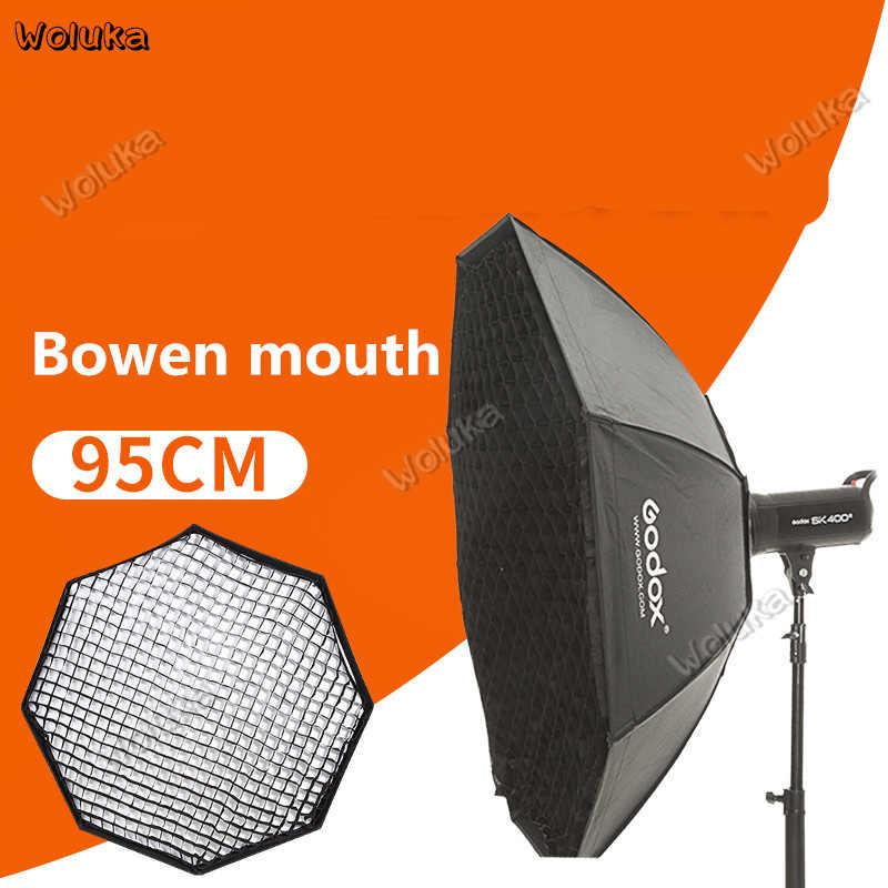 Godox softbox Octogonal 95 cm com grade de flash softbox bowen softbox flash de boca abajur Acessórios CD50 T03
