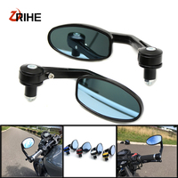 Universal 7/8 22mm Aluminum Handle Bar End Motorcycle Mirror Motor Scooters For Kawasaki Ninja 250 300 Z250 Z800 Z1000 MT09 KTM