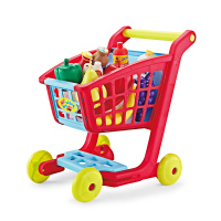 Kids Simulate Supermarket Shopping Cart Trolley Pretend Play Toys Set Children Mini Plastic Trolley Play Toy Gift For Children