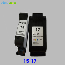 2PCS Ink Cartridges for HP 15 17 Cartridge Deskjet 1120c 825 840 841 842 843 845 PSC 500, 500xi OfficeJet Pro 1170c