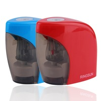 TIANSE Stationery Electric Switch Pencil Sharpener Automatic Metal Pencil Sharpener Office Accessories School Supplies Blue Red