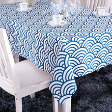 Blue And White Striped Table Cover For Weddings Tablecloth Polyester  Tablecloths Crochet Tablecloth Free Shipping