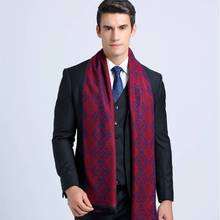 Scarf Luxury Brand Men Cotton Scarves Tartan Business Scarves Winter Cashmere Bufandas Cachecol YJWD358