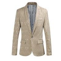 YFFUSHI 2018 Fashion Design Men Suit Jacket New Autumn Jacquard Blazer 4 Colors Notched Casual Style Slim Fit