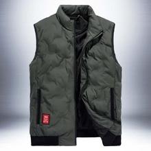 Autumn Winter Fashion Vest Men Casual Jacket Sleeveless Coat Korean Black Waistcoat Wide-Waisted Men Clothes все цены