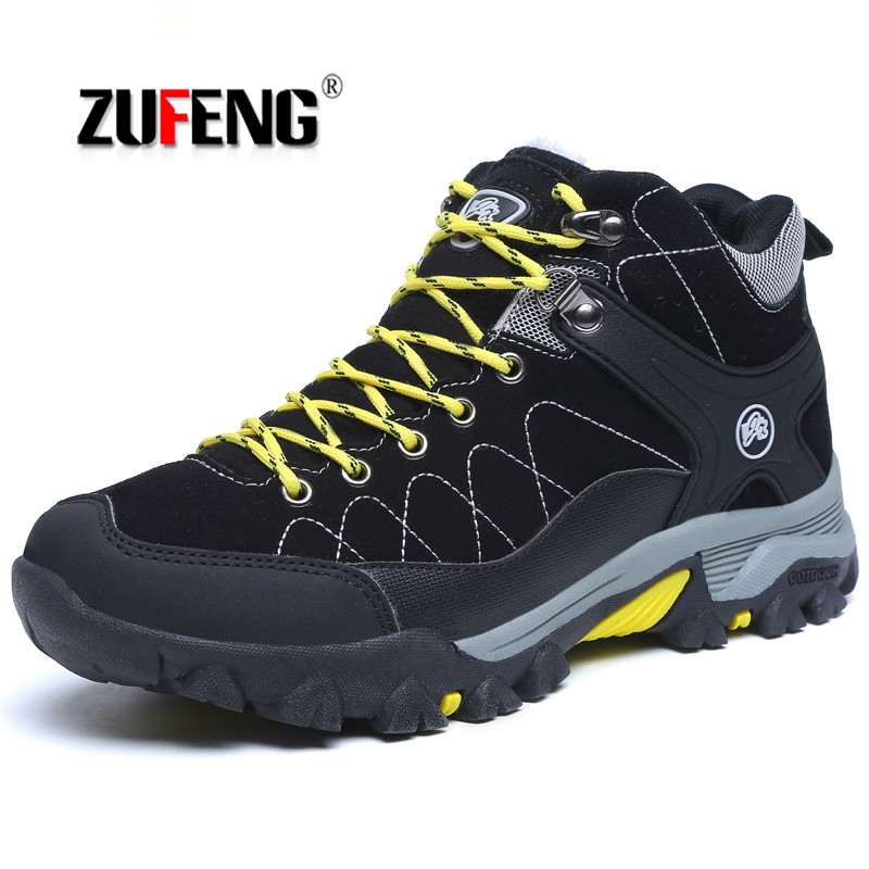 Men Winter Snow Boots Outdoor Hiking Boots Waterproof Hiking Shoes for Women Keep Warm Sport Trekking Climbing Athletic Shoes цена