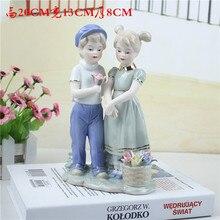 ceramic dolls for girls loves home decor crafts room decoration handicraft kids porcelain figurines wedding decorations