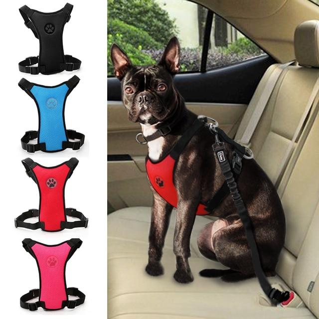 Dog Car Seat Harness Pet Travel Accessories Dogs Car Seat Belt ...