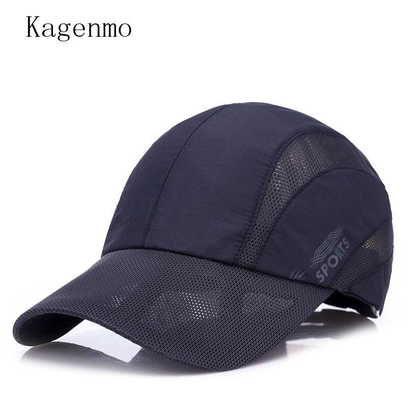 Kagenmo Breathable Quick Dry Cotton Baseball Cap Fashion Leisure Unisex Sun Hat Sports Male Run Hat Golf Shade Cool Cap
