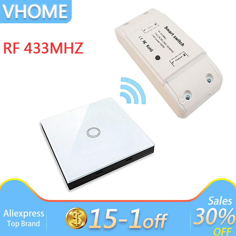 vhome-smart-remote-control-touch-switch-wireless-rf-433mhz-relay-receiver-ac-power-supply-90v-250v-5a-transmitter-controller