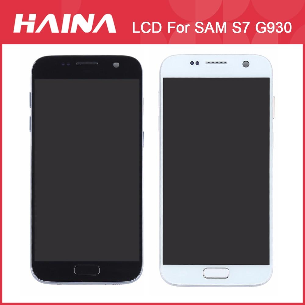 SUPER AMOLED Affichage G930F LCD Pour Samsung Galaxy S7 LCD G930F G930FD LCD Affichage à L'écran Tactile Digitizer Assemblée