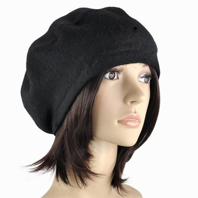 Newest Ladies Wool Mix French Beret Hat Warm Winter Hat Girls Beret ... b47237f7fa9