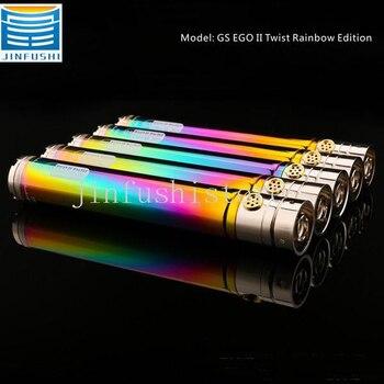 5pcs GS EGO 2 II Twist Rainbow 2200mAh Battery Electronic Cigarette battery ego twist Battery  fit CE4  510 EGO Atomizers цена 2017