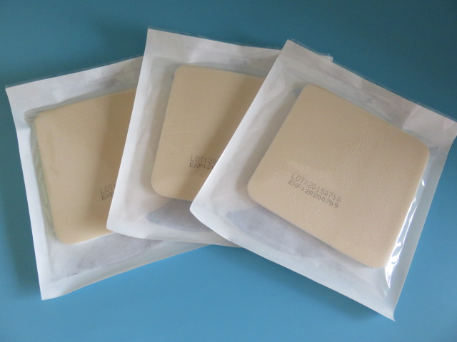 10pcs 10cm*10cm medical wound care Adcanced Effective Medical Grade Silicone Foam Dressing water uptake Bed dressing