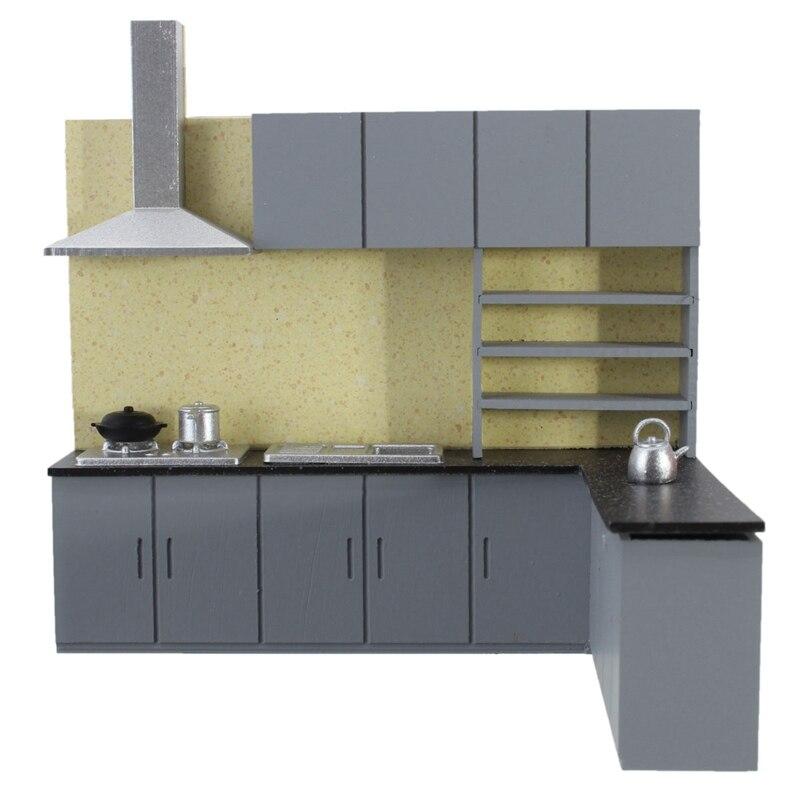 simple 125 dollhouse miniature furniture kitchen cabinet set model kit for home kids gift. beautiful ideas. Home Design Ideas