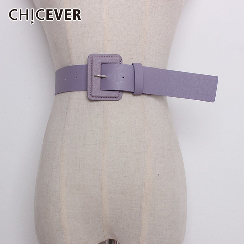 CHICEVER Spring Korean Belts New Fashion Solid Pu Leater Square Buckle Women Belt Accessories Stylish Style 2020 Tide