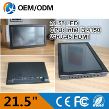 21.5 inch indusrial pc Resistive touch screen panel pc with 2GB RAM 500G HDD Resolution 1920X1080 I3 CPU 3.5GHz