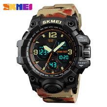 Skmei Shock Water Resistant Sport Watch Men Digital Dual Time Army Top Brand Alarm Quality Analog Wrist watches Electronic Clock цена