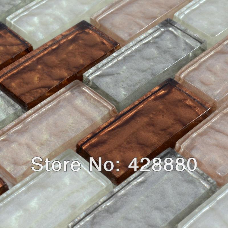 Glass Mosaic Tile Kitchen Backsplash Crystal Subway Tiles