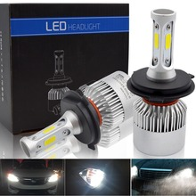 H7 led H11 H8 H9 H4 Hi-Lo Beam LED Car Headlight Bulbs COB 9005 HB3 9006 HB4 72W 8000LM 6500K Auto Headlamp Fog Light Bulb 12V цены онлайн