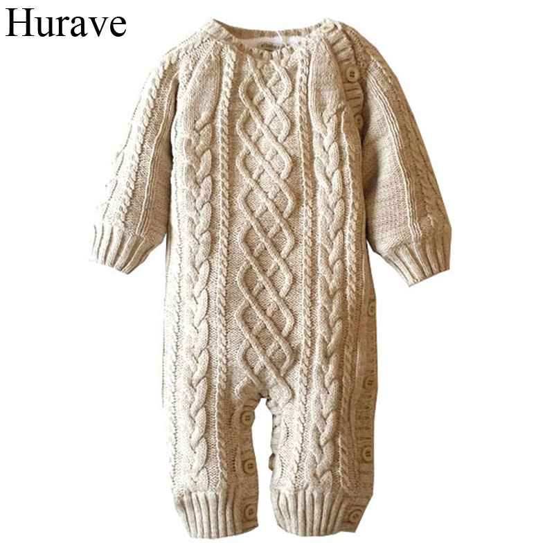 Hurave kids clothes Winter Baby Romper Cotton Plus Velvet Warm New Born Baby Clothes Newborn Infant Clothing Toddler Costume toddler girls hello kitty clothes set winter thick warm clothes plus velvet coat pants rabbi kids infant sport suits w133