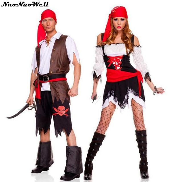 adult captain jack sparrow costume pirates of the caribbean fancy dress couples classical pirate halloween cosplay