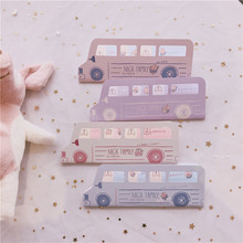 SIXONE Creative Lovely Rabbit Bus Sticky Note Indexes Hand Account Decoration Kawaii Memo Pad stationery korean
