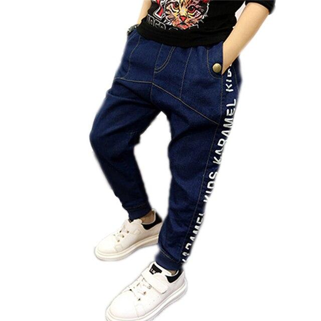 acheter populaire de2c1 b5e6a € 16.8 17% de réduction|Aliexpress.com: Acheter 2018 enfants vêtements doux  denim jeans pantalon garçon pantalon lettre imprimé enfants enfants denim  ...