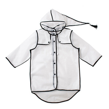 Children Hooded Transparent Raincoat