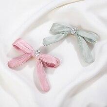 CHIMERA Cute Hair Bow Clip for Women Girls Fashion Satin Hairpin Accessories Handmade Headwear Bowknot Alligator Clips