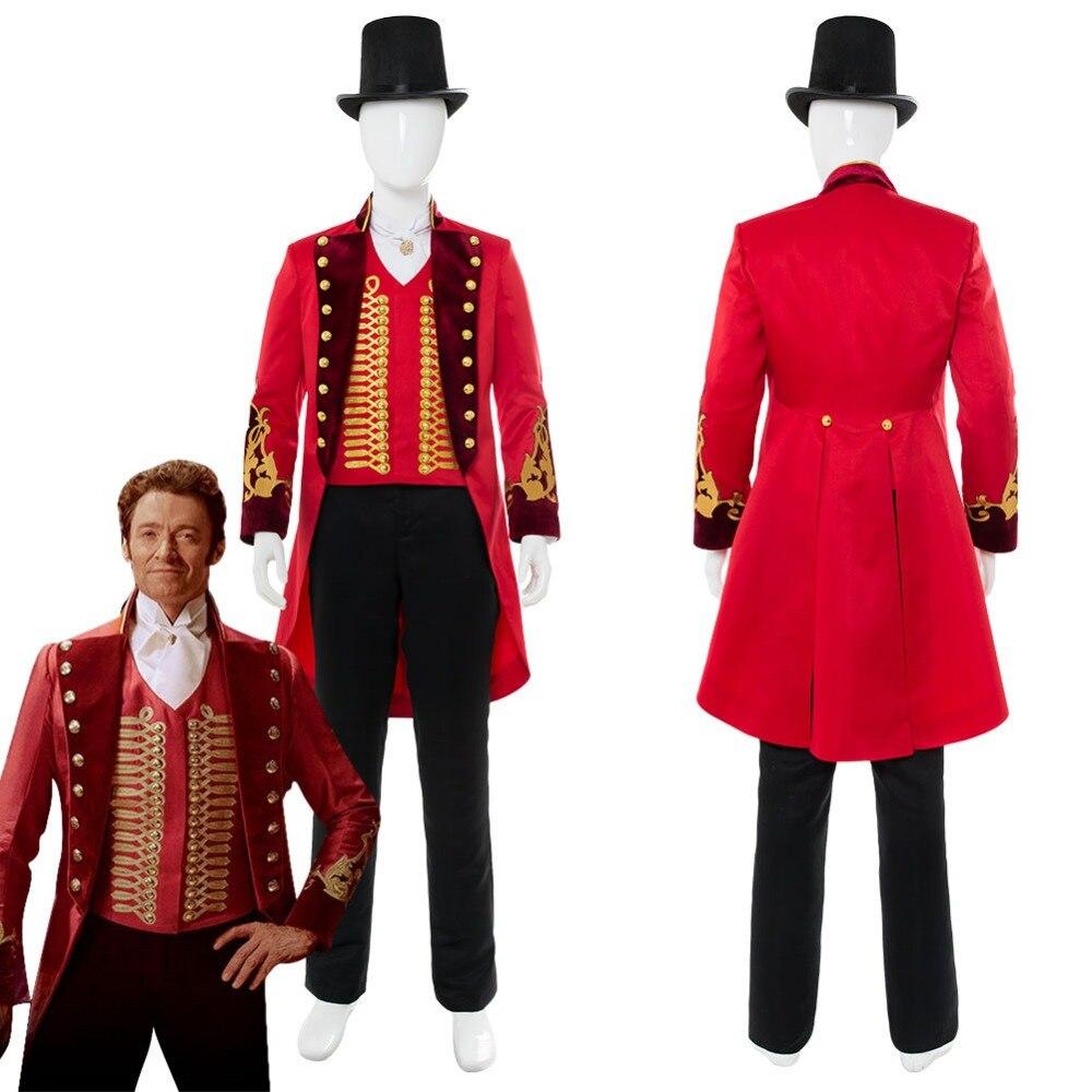 Le plus grand Showman P.T. Costume de Cosplay Barnum uniforme hommes adultes Costumes de Cosplay carnaval Halloween