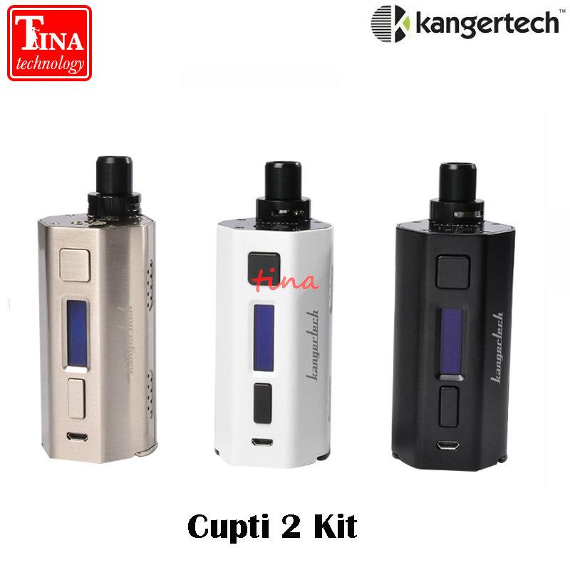 Prix pour D'origine Kangertech cupti 2 Boîte Mod Kit 5 ml Capacité avec max 80 W sortie Firmware extensible Boîte Mod 18650 Cigarette électronique