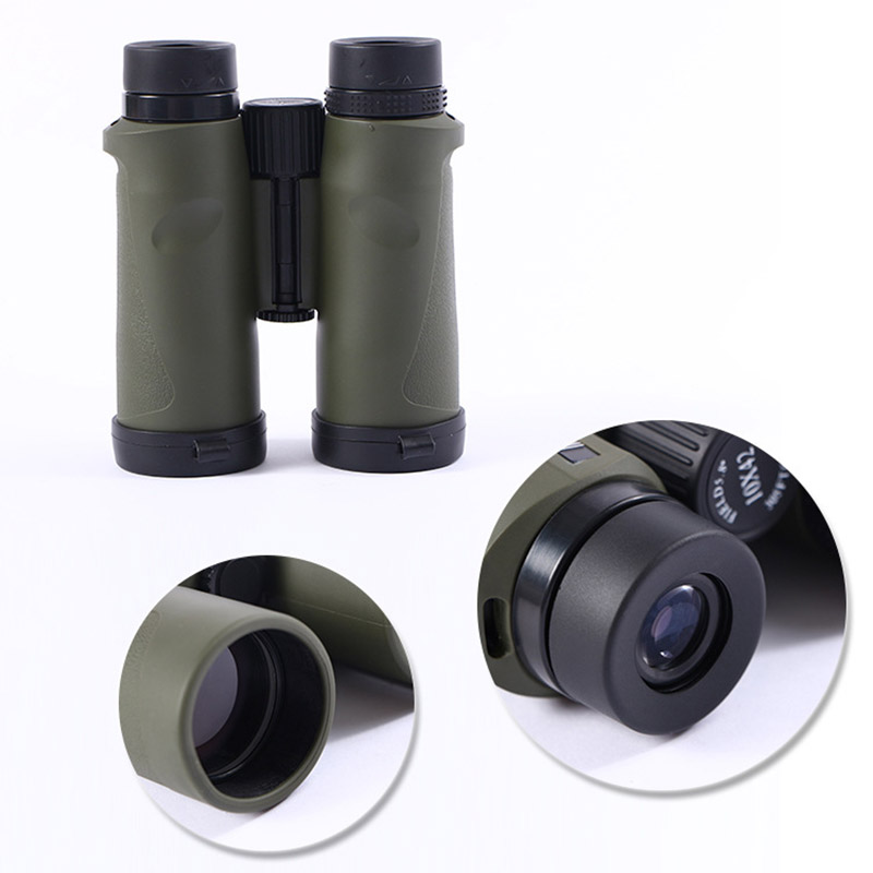 Original Binoculars 10x42 HD High PowerTelescope BAKA4 for Hunting and Travel with outdoor Spotting Scope original binoculars 10x42 high power hd optical lenses mc green film military telescope for hunting outdoor spotting scope