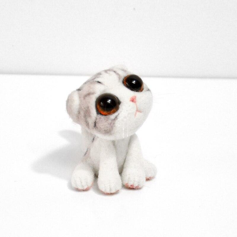 Der GüNstigste Preis 1 StÜck Nicht Fertigen Katze Für Anfänger Großen Augen Wollfilz Stecken Wollfilz Stieß Puppe Filzen Für Nadeln Diy Material Set Handwerk Spezieller Kauf
