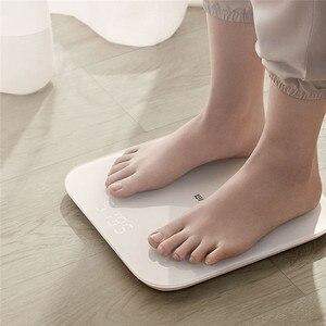 Image 2 - Оригинальные весы Xiaomi Mijia Scale 2, Bluetooth 5,0, умные весы, цифровой светодиодный дисплей, работает с приложением Mi fit для бытового фитнеса