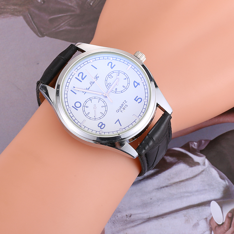 Fashion Men's Watch Leather Strap Clockwise Display Mens Watches Top Brand Luxury Casual Quartz Wristwatch