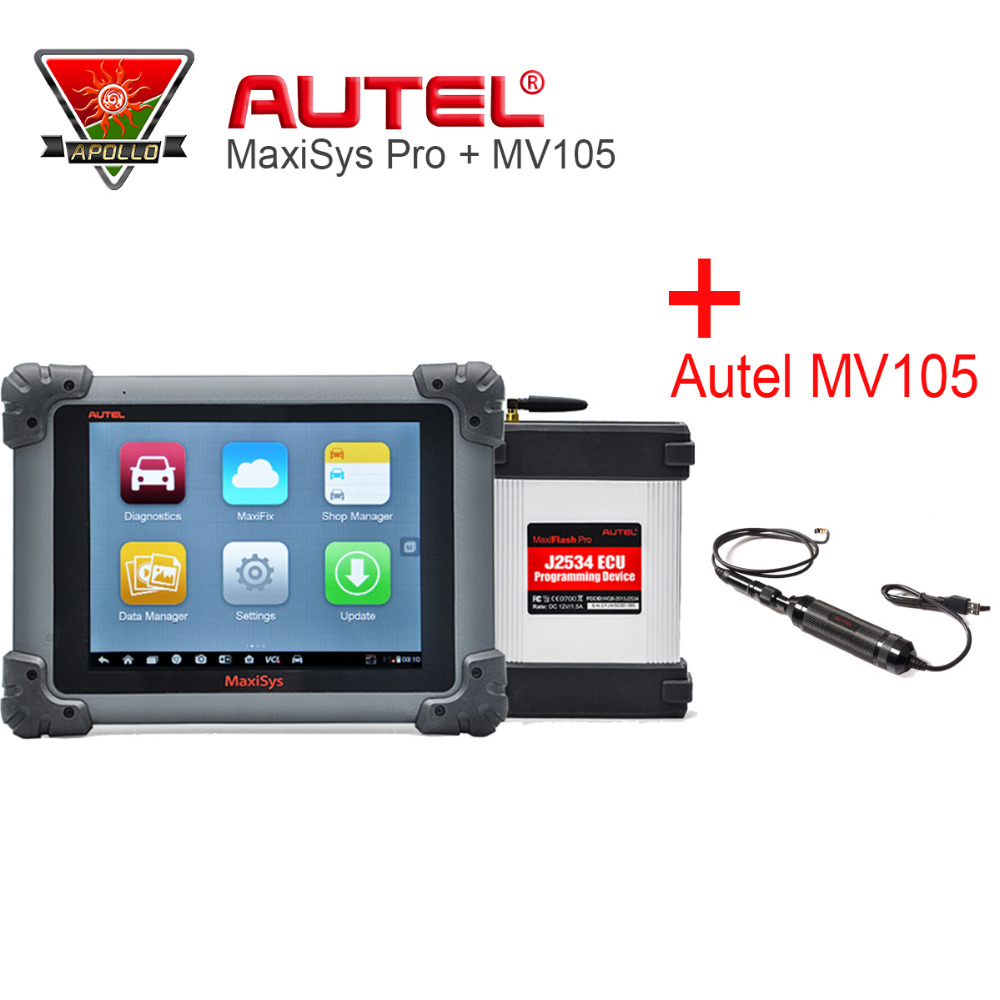 Autel MaxiSys Pro MS908P ECU Programming Car Diagnostic Tool with J2534 & Autel MV105 MaxiVideo Car Scanner Maxisys MS908 Pro autel maxisys elite car diagnosis j2534 ecu programing tool faster than ms908p 908 pro free update 2 years on autel website