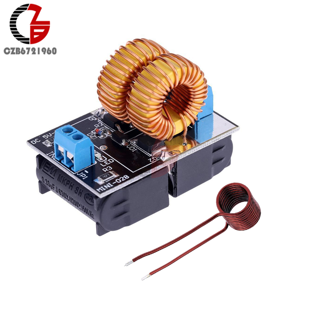 DC 5V 12V ZVS Low Voltage Induction Heating Power Supply Module Induction Heating Board Tesla Jacob's Ladder Heating Coil 120W diy zvs tesla coil power supply boost voltage generator drive board induction heating module