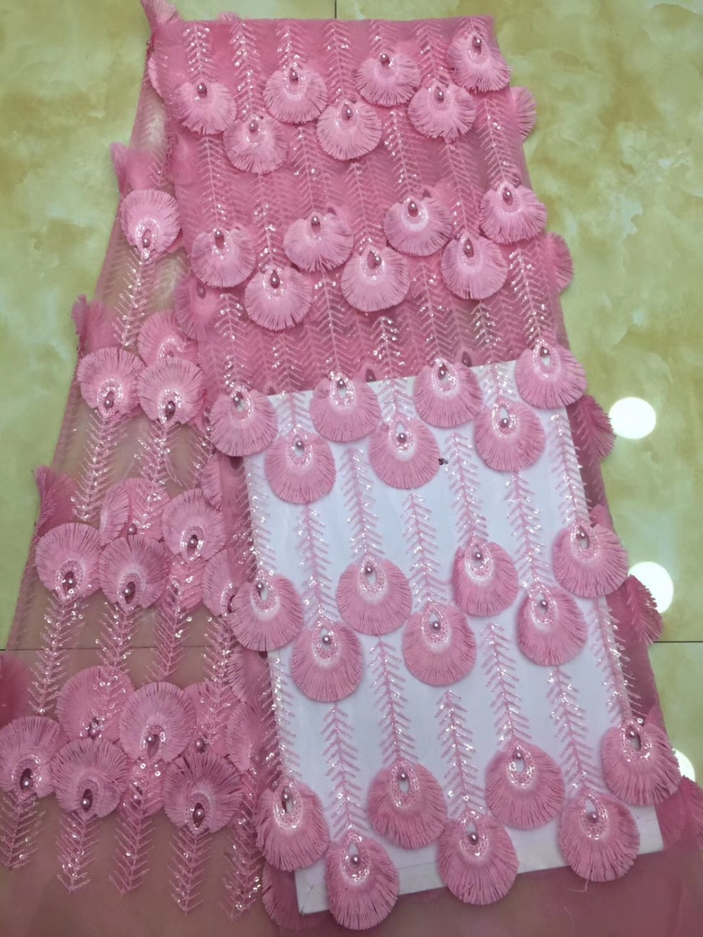 6 Color Organza French Nigerian Laces Fabrics High Quality Tulle African Laces Fabric Wedding African French