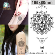 Body Art Wterproof Temporary Tattoos For Men Women Black TribalDisplay Design Large Tattoo Sticker FC2508